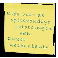 Oplossingen Direct Accountants